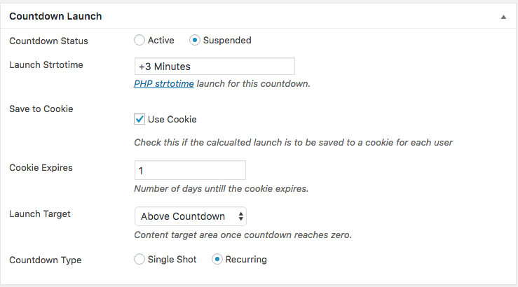 Launch Setup with Cookies
